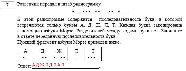 условие задачи 7 ГИА информатика