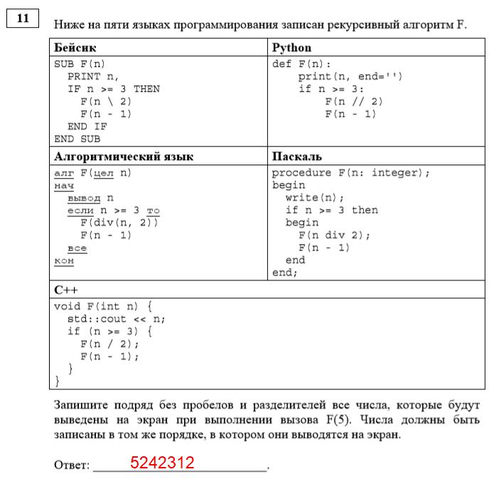 Задачи по информатике егэ с решением решение задач по функциональному признаку